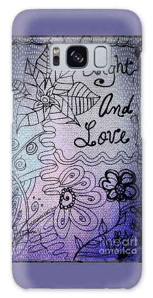 Light And Love Galaxy Case