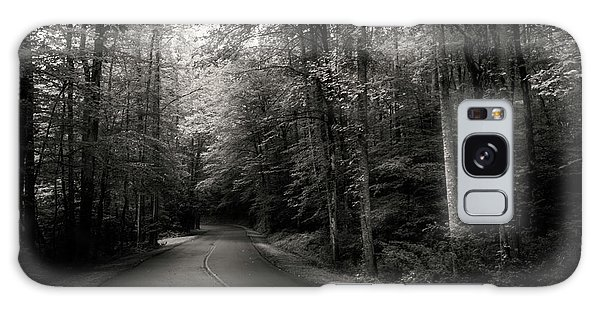 Light And Shadow On A Mountain Road In Black And White Galaxy Case