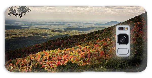 Light And Shadow On Tennessee Mountains Galaxy Case by Chrystal Mimbs