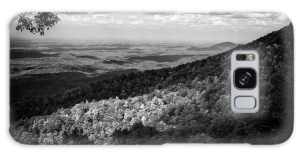 Light And Shadow On Tennessee Mountains In Black And White Galaxy Case by Chrystal Mimbs