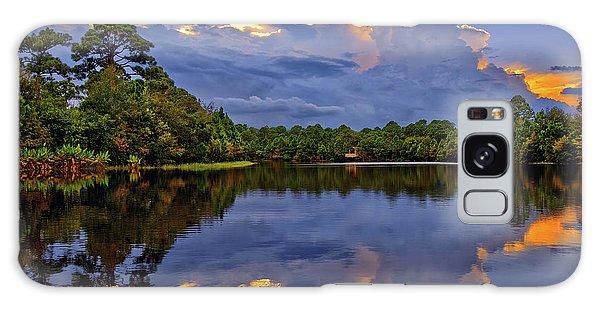 Light Beam Sunset Over Hidden Lake In Jupiter Florida Galaxy Case