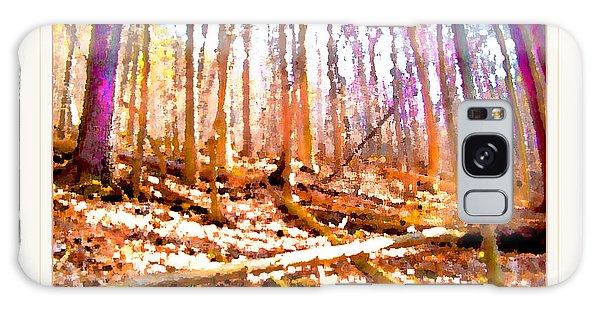Light Between The Trees Galaxy Case by Felipe Adan Lerma