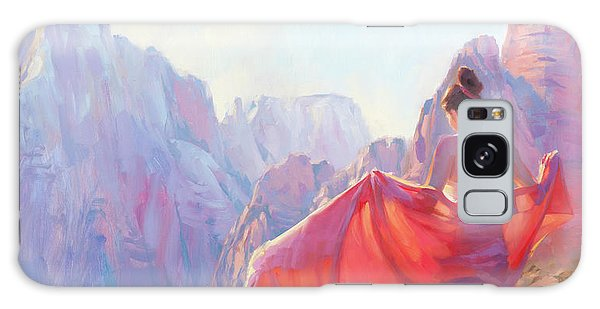 Galaxy Case featuring the painting Light Of Zion by Steve Henderson