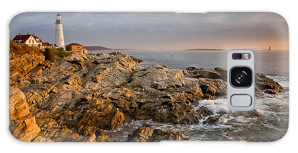 Light On Portland Head Galaxy Case by Susan Cole Kelly