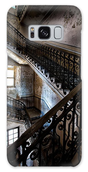 Light On The Stairs - Urban Exploration Galaxy Case