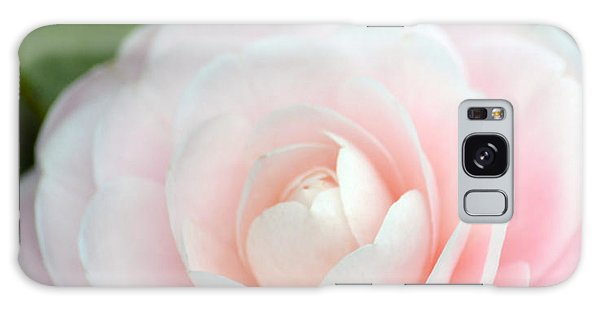 Light Pink Camellia Flower Galaxy Case