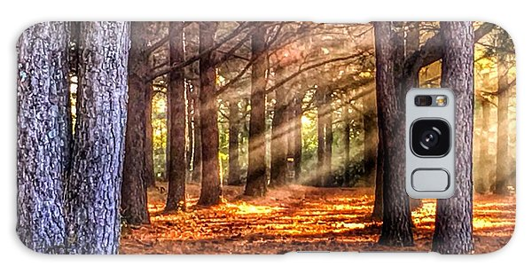 Light Thru The Trees Galaxy Case