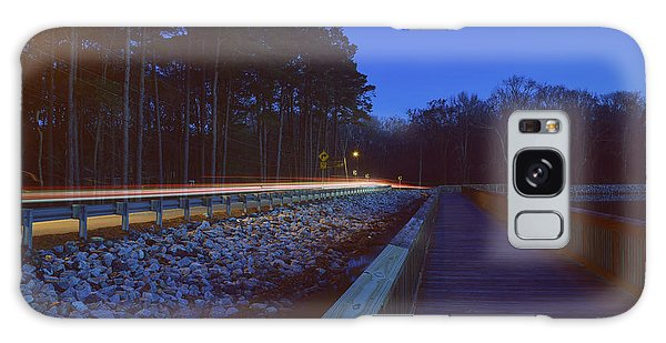 Light Trails On Elbow Road Galaxy Case