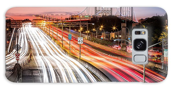 Light Trails On I-278 Near Triboro Bridge Galaxy Case
