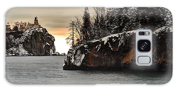 Lighthouse And Island At Dawn Galaxy Case by Larry Ricker