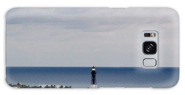 Lighthouse And Rain Clouds Galaxy Case