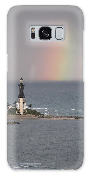 Lighthouse And Rainbow Galaxy Case