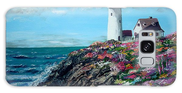 Lighthouse At Flower Point Galaxy Case by Jack Skinner