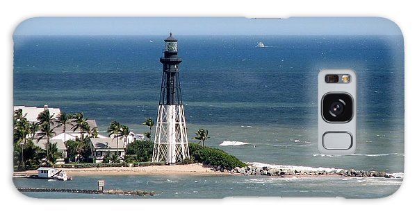 Lighthouse At Hillsboro Beach, Florida Galaxy Case
