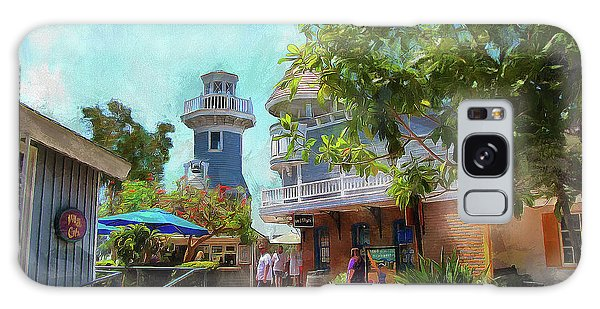 Lighthouse At Seaport Village Galaxy Case