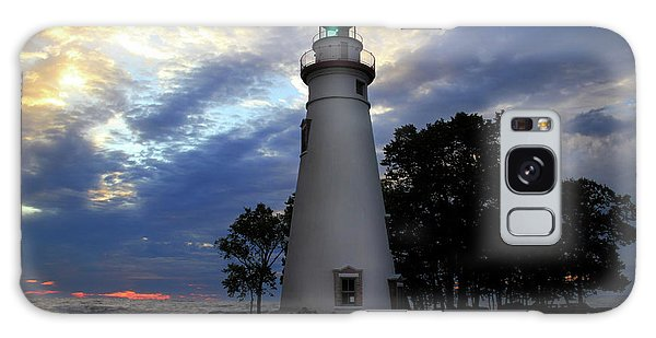 Lighthouse At Sunrise Galaxy Case