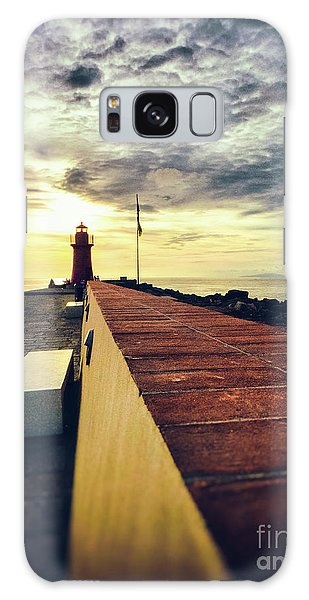 Galaxy Case featuring the photograph Lighthouse At Sunset by Silvia Ganora