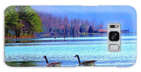 Lighthouse Geese, Smith Mountain Lake Galaxy Case
