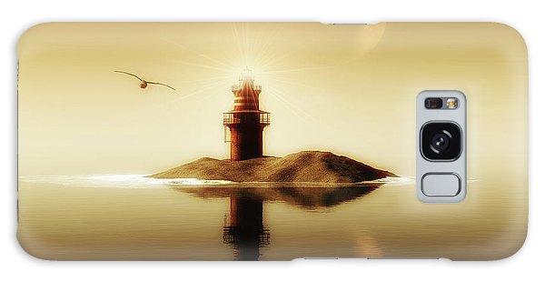 Lighthouse In A Calm Sea Galaxy Case