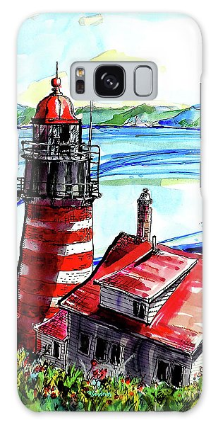 Lighthouse In Maine Galaxy Case