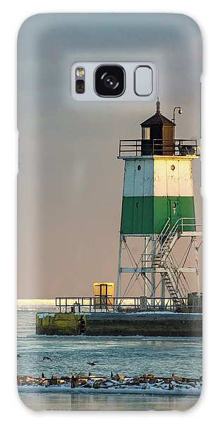 Lighthouse In The Sunset Galaxy Case