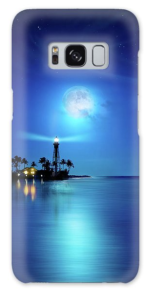 Lighthouse Moon Galaxy Case by Mark Andrew Thomas