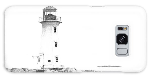 Lighthouse Of Peggy's Cove Galaxy Case
