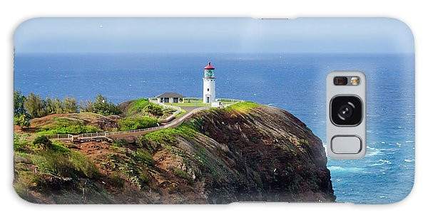 Lighthouse On A Cliff Galaxy Case