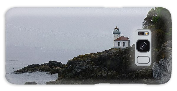 Lighthouse On Rainy Day Galaxy Case