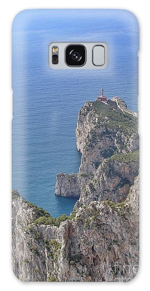 Lighthouse On The Cliff Galaxy Case