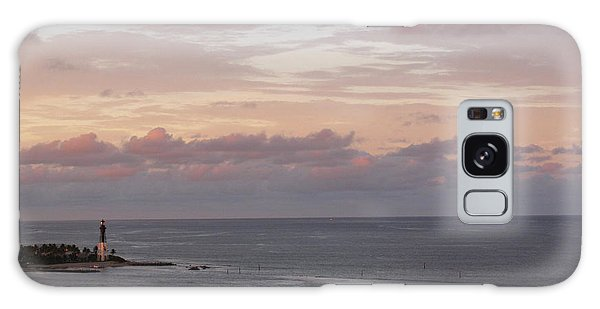 Lighthouse Peach Sunset Galaxy Case