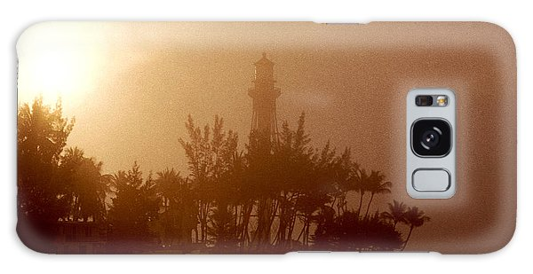 Lighthouse Point Sunrise Galaxy Case