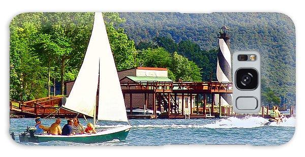 Lighthouse Sailors Smith Mountain Lake Galaxy Case