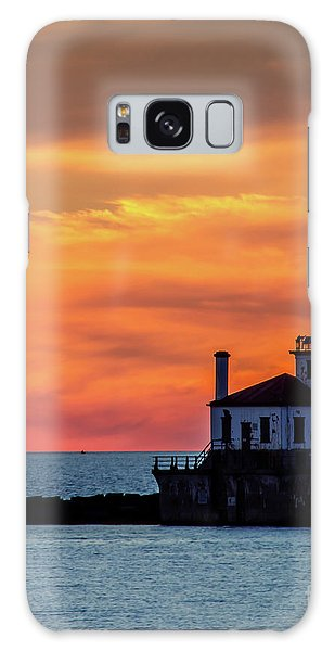 Lighthouse Silhouette Galaxy Case