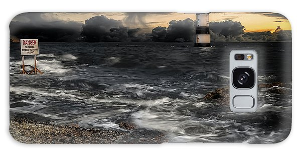 Puffin Galaxy S8 Case - Lighthouse Storm by Adrian Evans