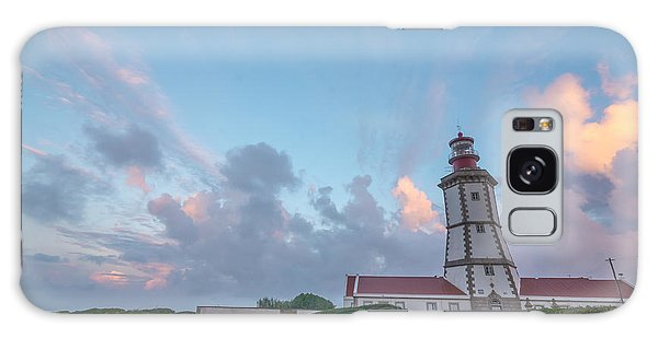 Lighthouse Sunrise At Cape Espichel Galaxy Case