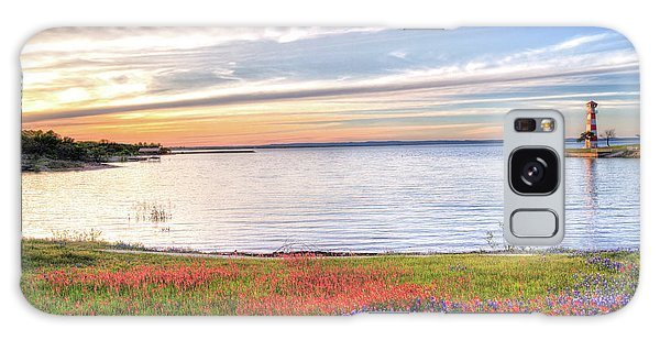 Lighthouse Sunset At Lake Buchanan Galaxy Case