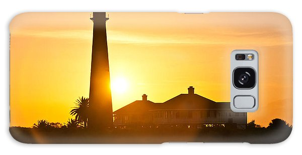 Lighthouse Sunset Galaxy Case by John Collins