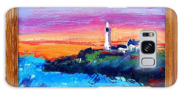 Lighthouse Sunset Galaxy Case