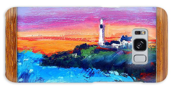 Lighthouse Sunset Galaxy Case by Les Leffingwell