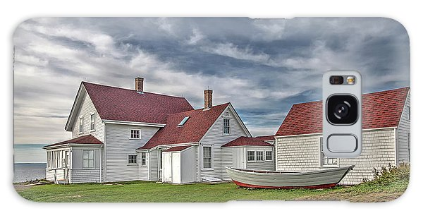 Keepers House At The Monheagn Lighthouse Galaxy Case