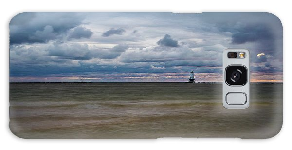 Lighthouse Under Brewing Clouds Galaxy Case