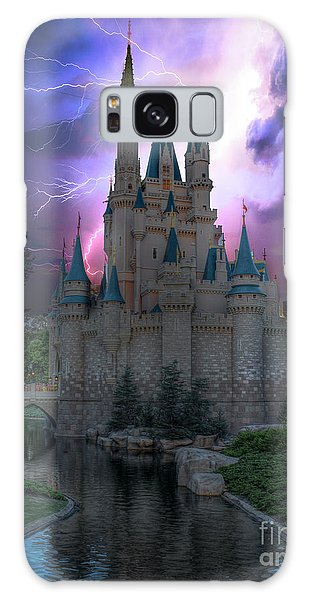 Lighting Over The Castle Galaxy Case