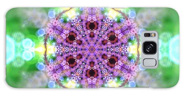Galaxy Case featuring the digital art Lightmandala 6 Star 3 by Robert Thalmeier