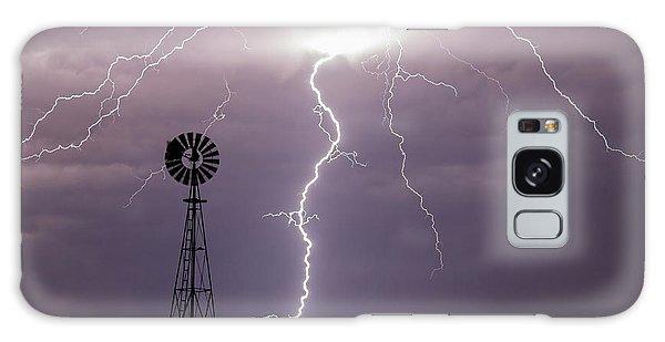 Lightning And Windmill -02 Galaxy Case