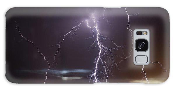 Lightning At Dusk Galaxy Case