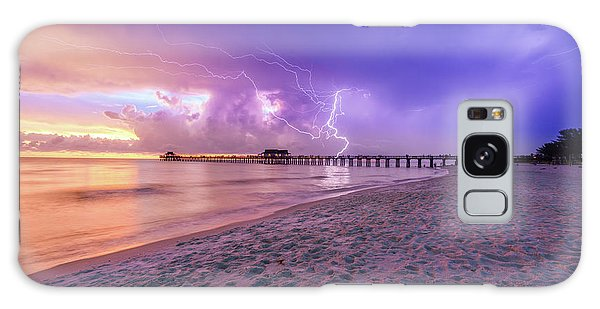 Lightning Naples Pier Galaxy Case