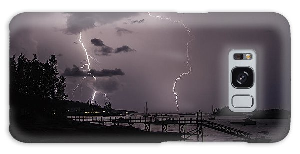Lightning Over Boothbay Harbor Galaxy Case