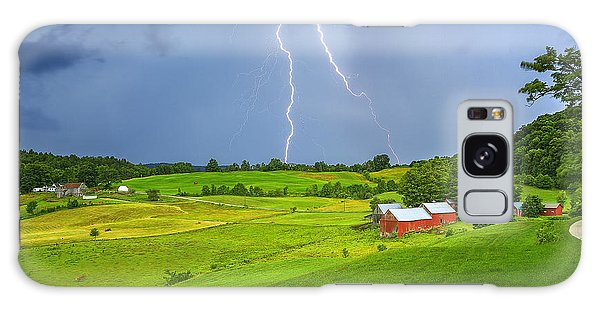 Lightning Storm Over Jenne Farm Galaxy Case