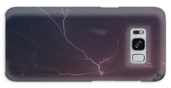 Galaxy Case featuring the photograph Lightning Over Lake Lanier by Michael Sussman